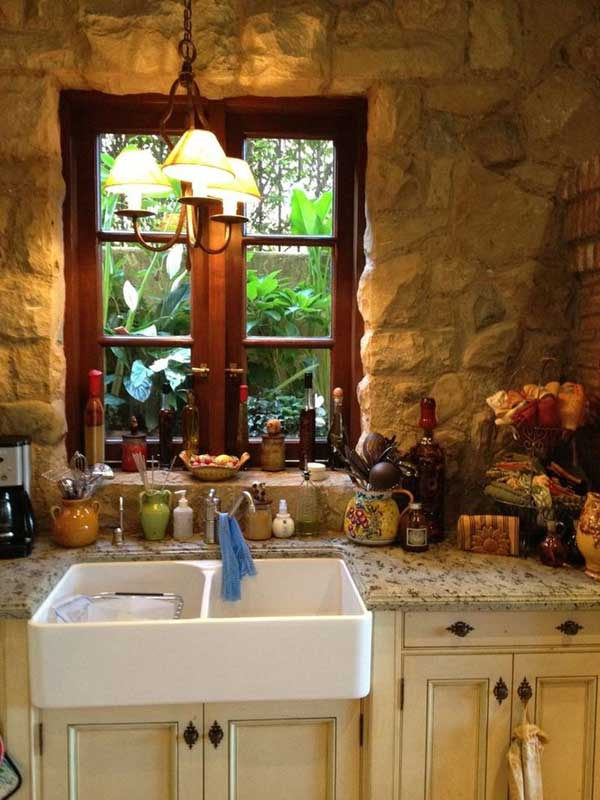 22 Stunning Stone Kitchen Ideas Bring Natural Feel Into ... on Rustic:1Gdhjdx6F3G= Farmhouse Kitchen  id=55962