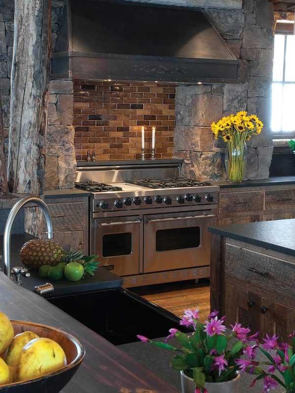 22 Stunning Stone Kitchen Ideas Bring Natural Feel Into ... on Farmhouse:-Xjylc6A2Ec= Rustic Kitchen  id=69859
