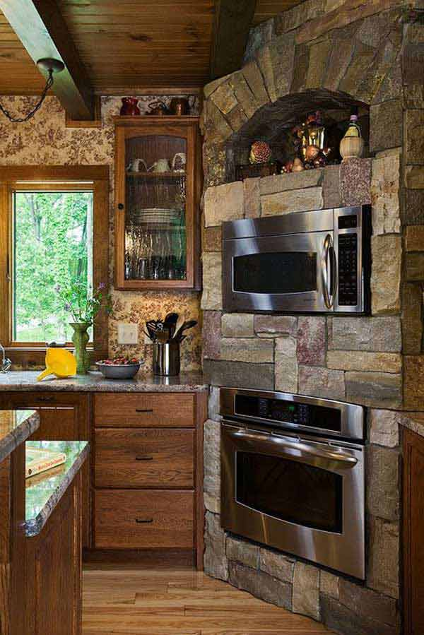 22 Stunning Stone Kitchen Ideas Bring Natural Feel Into ... on Rustic:1Gdhjdx6F3G= Farmhouse Kitchen  id=11132