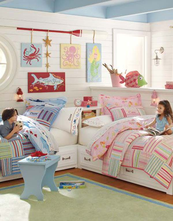 21 brilliant ideas for boy and girl shared bedroom - amazing diy