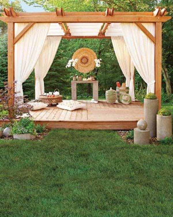 24 Inspiring DIY Backyard Pergola Ideas To Enhance The ... on Backyard Design Ideas Diy id=62552