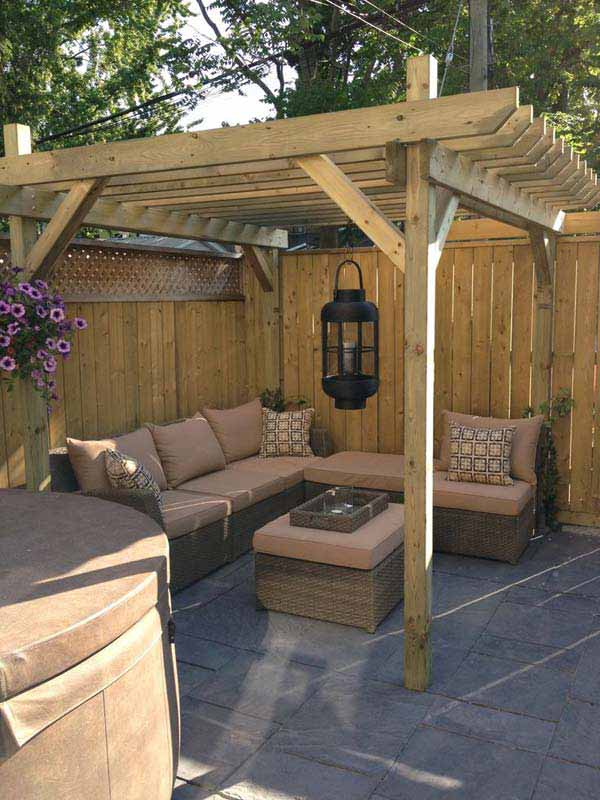 Amazing! 24 Inspiring DIY Backyard Pergola Ideas To ... on Covered Pergola Ideas  id=86477