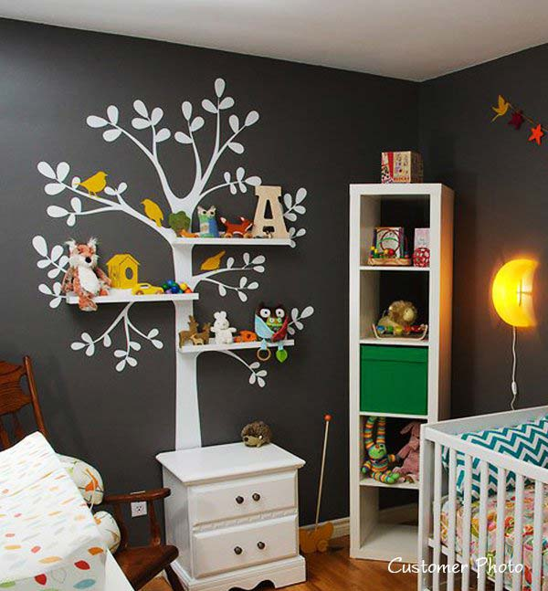 30 Fantastic Wall Tree Decorating Ideas That Will Inspire ... on Wall Decoration Ideas  id=70997