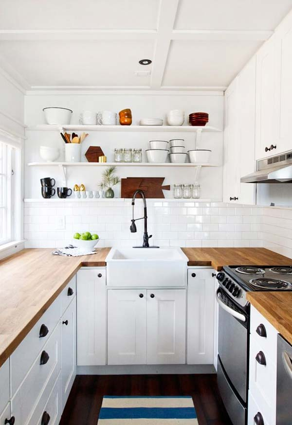 19 Practical U-Shaped Kitchen Designs for Small Spaces ... on Rustic:rkh3E0Gkuju= Farmhouse Kitchen Ideas  id=92134