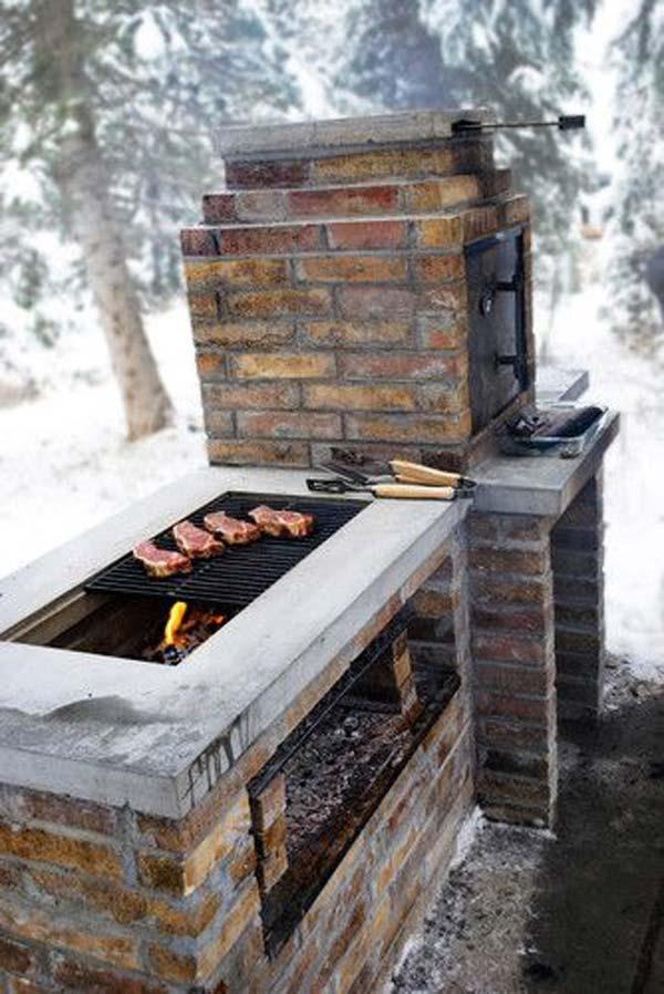 Cool DIY Backyard Brick Barbecue Ideas - Amazing DIY ... on Backyard Masonry Ideas id=49007