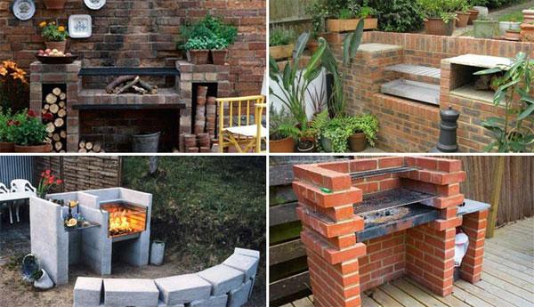 cool diy backyard brick barbecue ideas