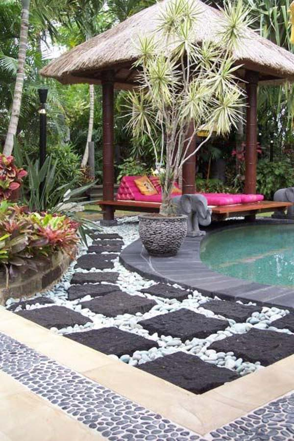 25 Cool Pebble Design Ideas for Your Courtyard - Amazing ... on Backyard Pebbles Design id=56104