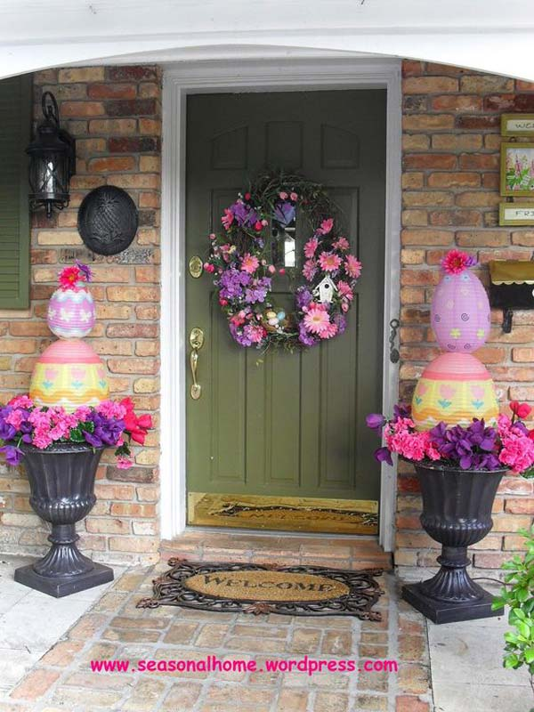 29 Cool DIY Outdoor Easter Decorating Ideas   Amazing DIY  Interior     Easter Outdoor Decor Ideas 1
