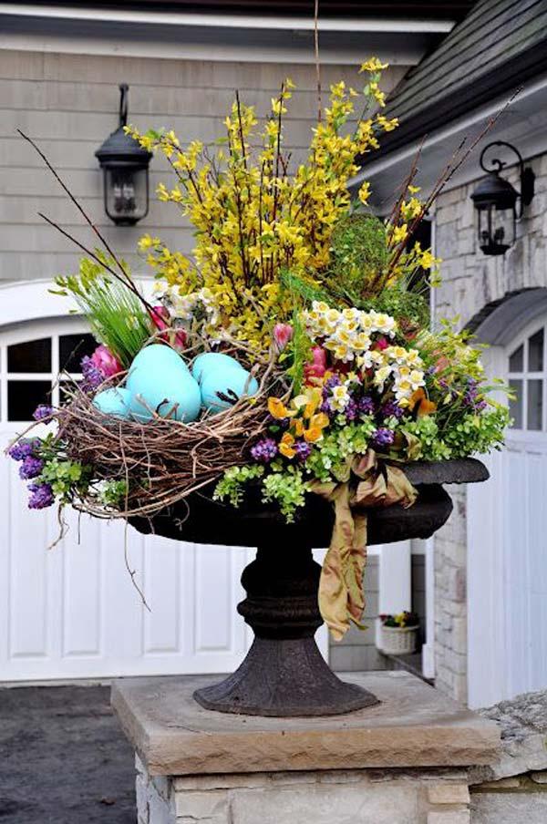 29 Cool DIY Outdoor Easter Decorating Ideas - Amazing DIY ... on Garden Decor Ideas  id=55302