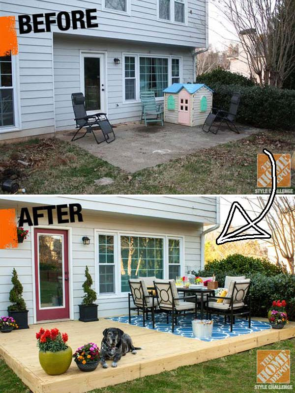 Top 19 Simple and Low-budget Ideas For Building a Floating ... on Diy Backyard Patio Cheap  id=29159