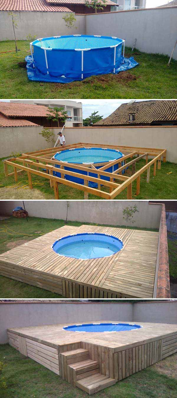 Top 19 Simple and Low-budget Ideas For Building a Floating ... on Floating Patio Ideas id=59227