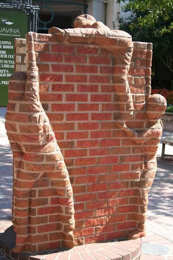 DIY Ideas For Creating Cool Garden or Yard Brick Projects ... on Backyard Masonry Ideas id=76393
