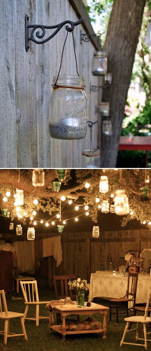 15 DIY Backyard and Patio Lighting Projects - Amazing DIY ... on Backyard String Lights Diy  id=45850