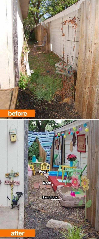 Awesome Ideas To Use Your Narrow Side Yard - Amazing DIY ... on Narrow Yard Ideas  id=95806