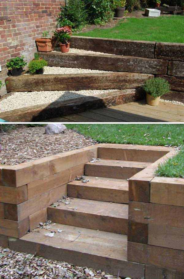 The Best 23 DIY Ideas to Make Garden Stairs and Steps ... on Backyard Patio Steps id=45673