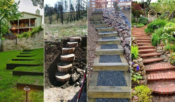 The Best 23 Diy Ideas To Make Garden Stairs And Steps Amazing | Home Outside Steps Design | Handrail | Building | Ground Floor | Outer | 1St Floor