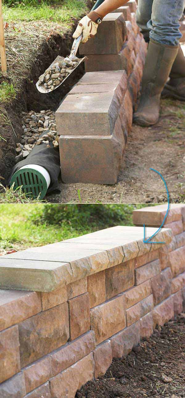 20 Inspiring Tips for Building a DIY Retaining Wall ... on Wall Ideas For Yard id=66702