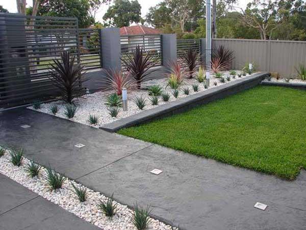 front garden design ideas south africa 29 Cool White Gravel Decorative Ideas