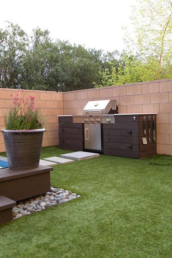 Adding a Barbecue Grill Area To Summer Yard or Patio ... on Patio Grilling Area  id=43436