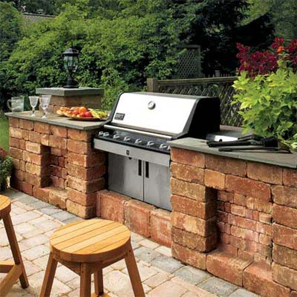 Adding a Barbecue Grill Area To Summer Yard or Patio ... on Patio Grilling Area  id=64764