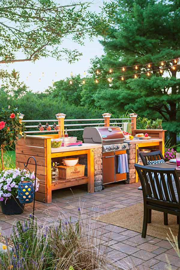 Adding a Barbecue Grill Area To Summer Yard or Patio ... on Patio Grilling Area  id=64530