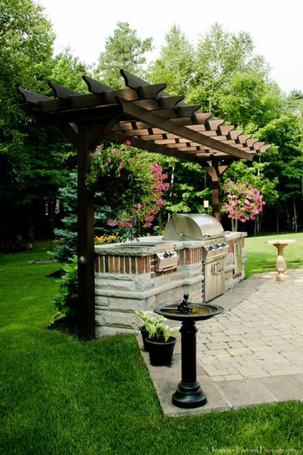 Adding a Barbecue Grill Area To Summer Yard or Patio ... on Patio Grilling Area  id=26736