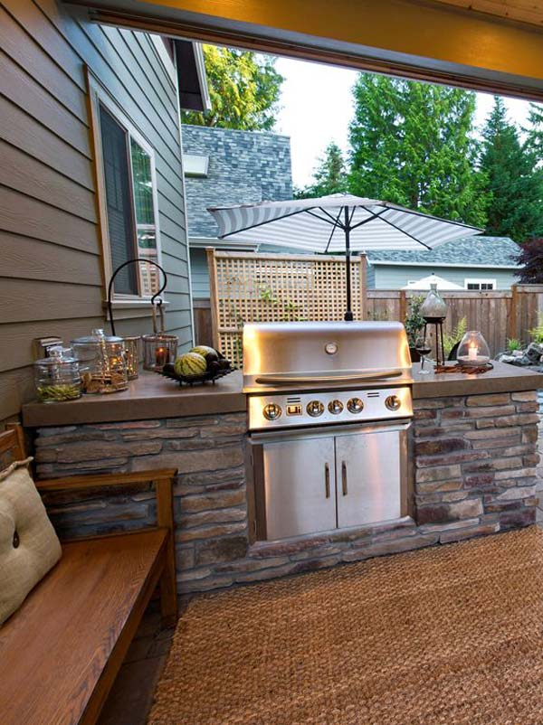 Adding a Barbecue Grill Area To Summer Yard or Patio ... on Patio Grilling Area  id=94727