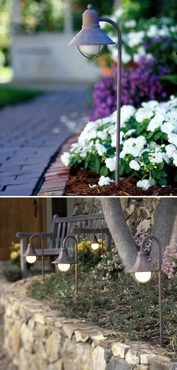 diy pathway lighting ideas for garden