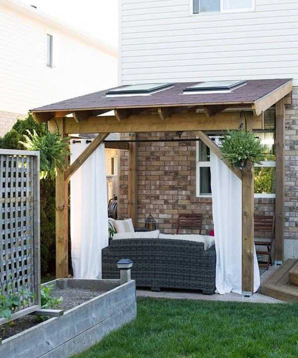 Stunning Ways to Bring Shade To Yard or Patio - Amazing ... on Covered Patio Design Ideas id=88424
