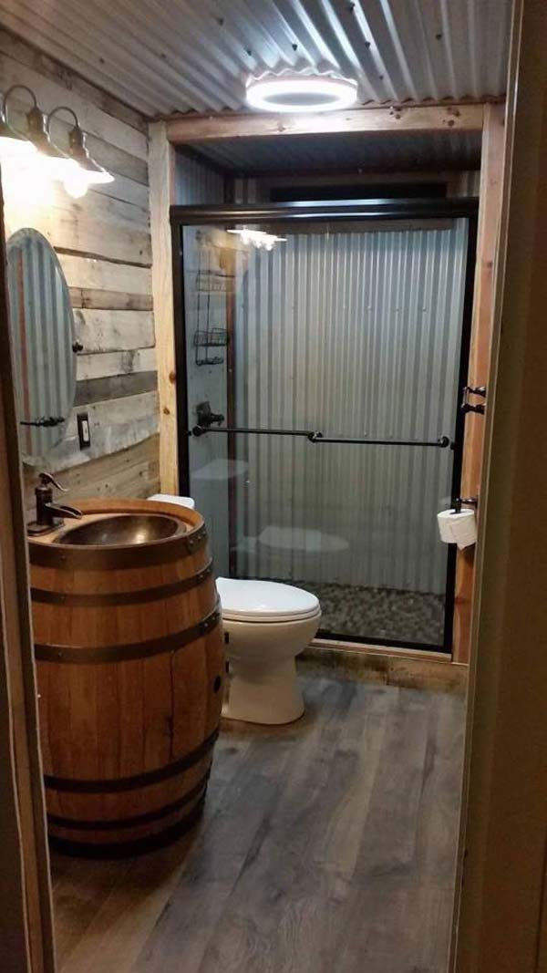 30 Awesome Ideas to Add Rustic Style To Bathroom - Amazing ... on Rustic:s9Dkpzirpk8= Farmhouse Bathroom  id=29285