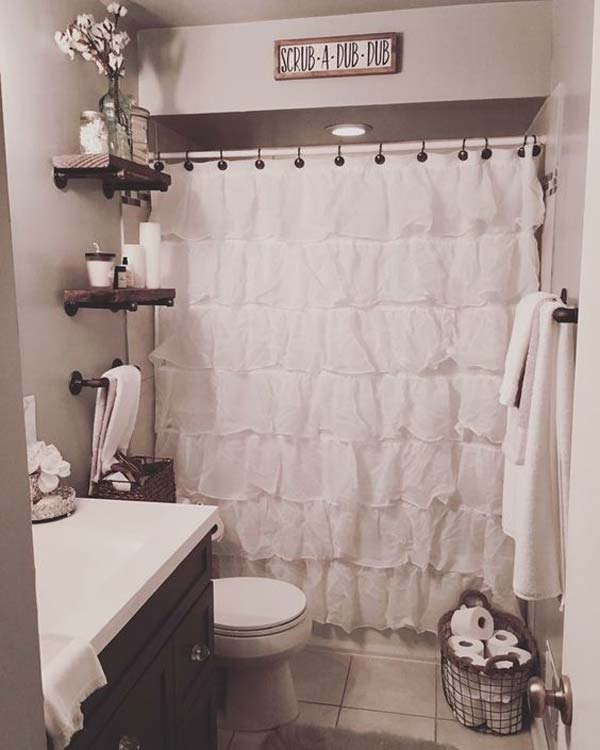 30 Awesome Ideas to Add Rustic Style To Bathroom - Amazing ... on Bathroom Ideas Apartment  id=33514