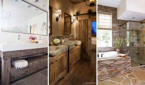 30 Awesome Ideas to Add Rustic Style To Bathroom   Amazing DIY     As one of the most intimate beautiful space in all of home  designing a  bathroom with rustic decor would be quite well  It helps you connect with  nature as