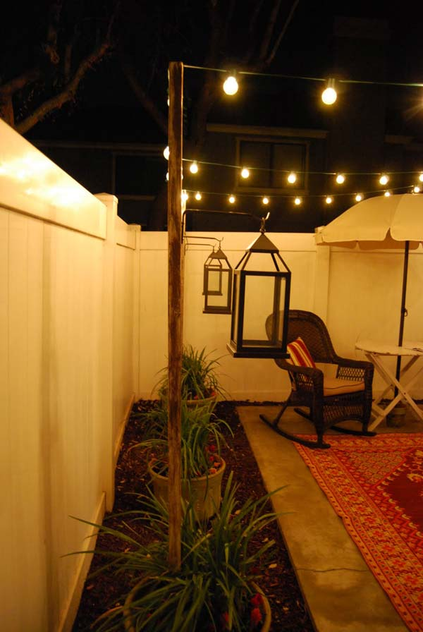 27 DIY String Lights Ideas For Fall Porch and Yard ... on Backyard String Lights Diy  id=68694