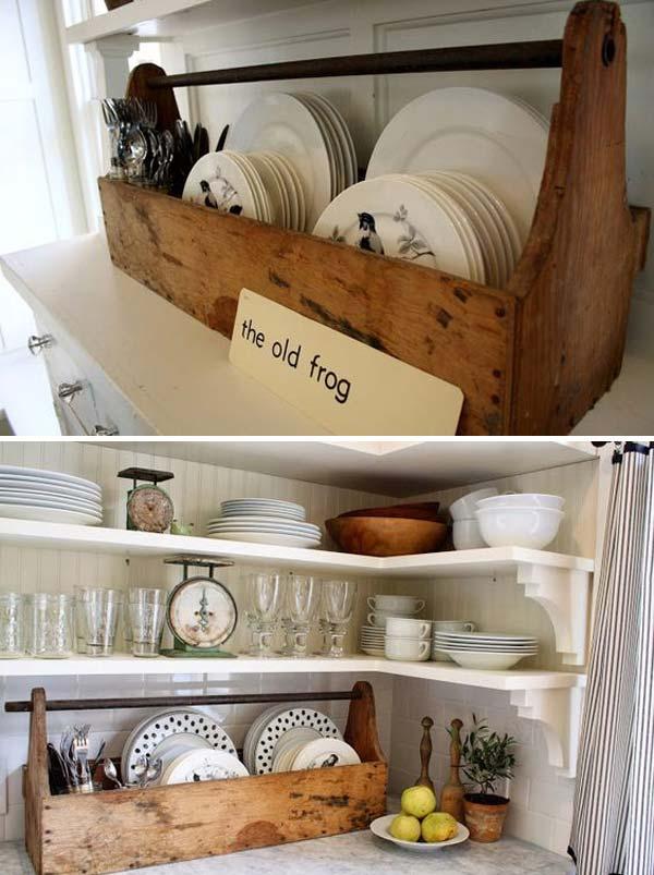 22 Farmhouse-Inspired Kitchen Storage Ideas - Amazing DIY ... on Rustic:1Gdhjdx6F3G= Farmhouse Kitchen  id=47546