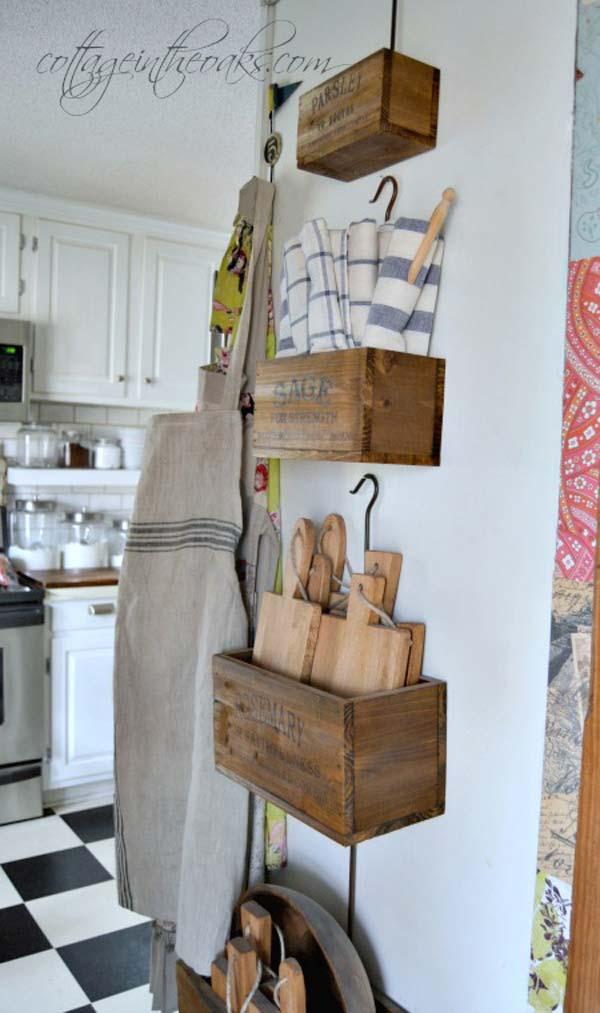 22 Farmhouse-Inspired Kitchen Storage Ideas - Amazing DIY ... on Rustic:1Gdhjdx6F3G= Farmhouse Kitchen  id=18090