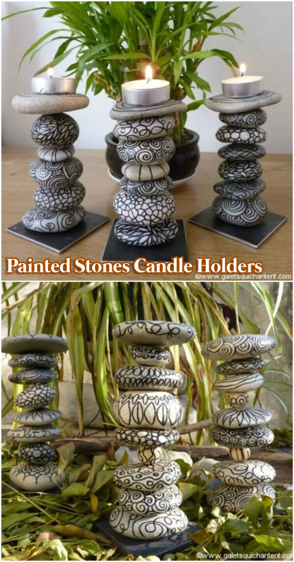 DIY Painted Stone Decorations You Can Do - Amazing DIY ... on Rock Decorating Ideas  id=86650
