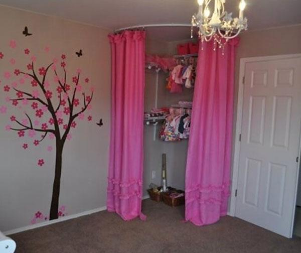 diy closet curtain ideas image of