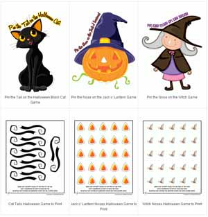 free halloween party games printables # 1