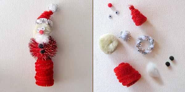 Santa Crafts Kids Can Make - Santa Craft Finger Puppet
