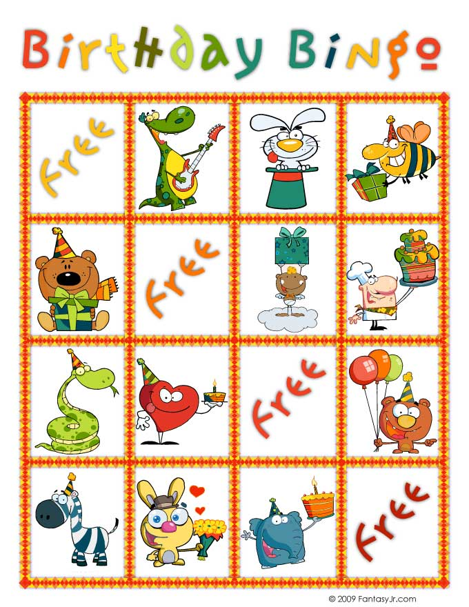 Birthday Bingo Free Printable
