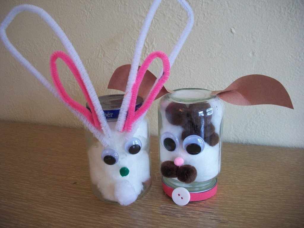 Recycled Craft Baby Food Jar Animals