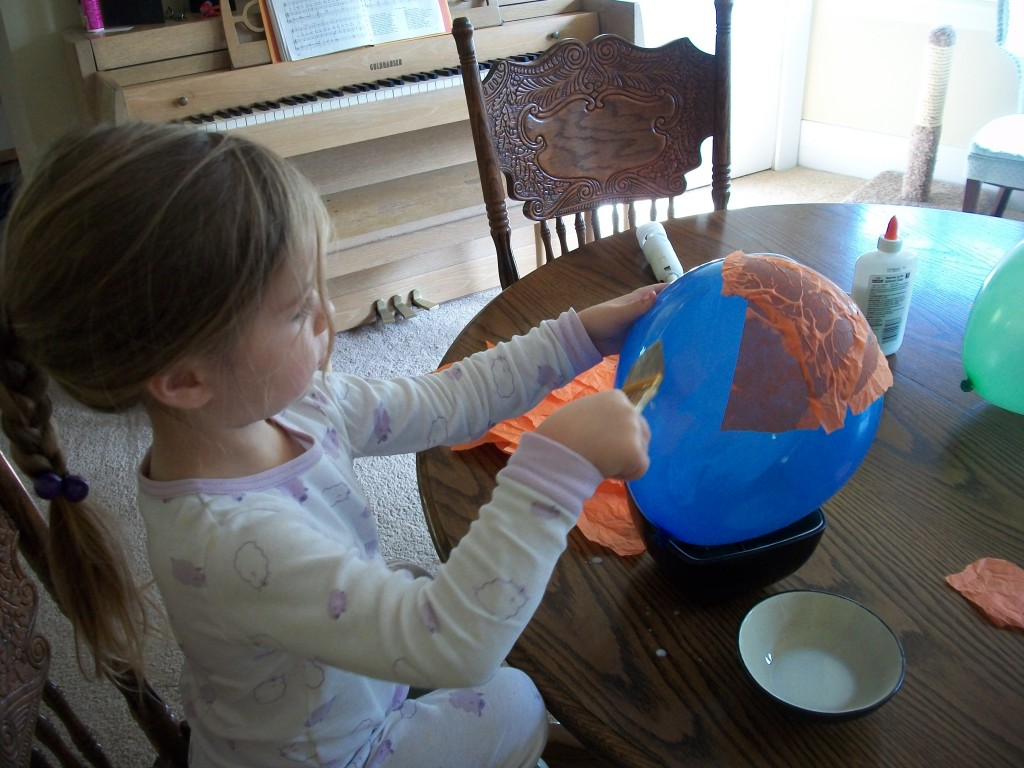 Affix The Tissue Paper Pieces To The Balloon By Brushing On A Layer Of Watered Down Glue