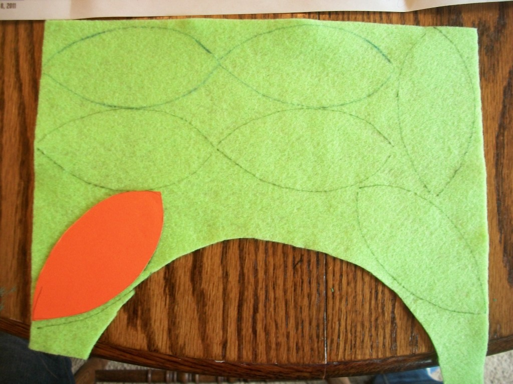 I Cut Out A Cardstock Template So My Leaves Would All