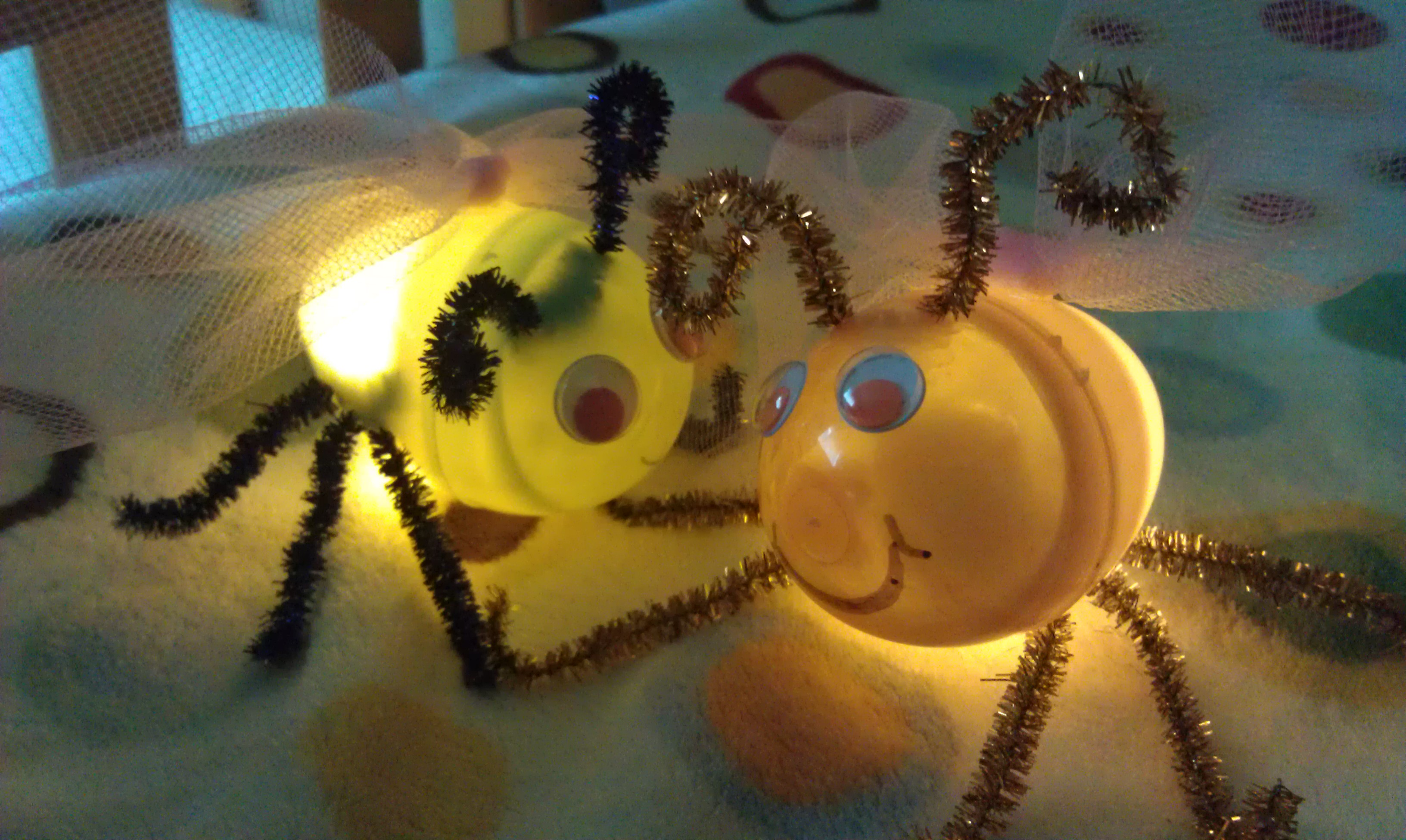 Fireflies Or Lightning Bug Craft From Plastic Eggs