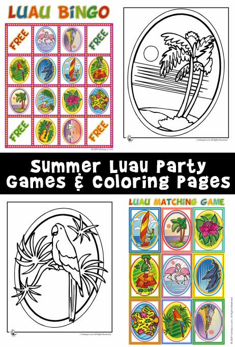 Luau Party Ideas Luau Games Luau Bingo And Luau Recipes