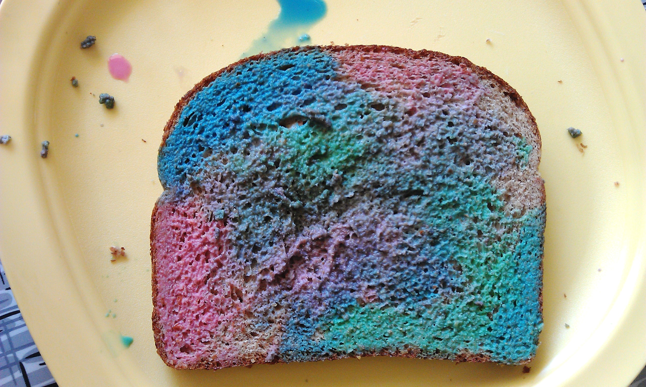 Painted Bread Craft For Toddlers