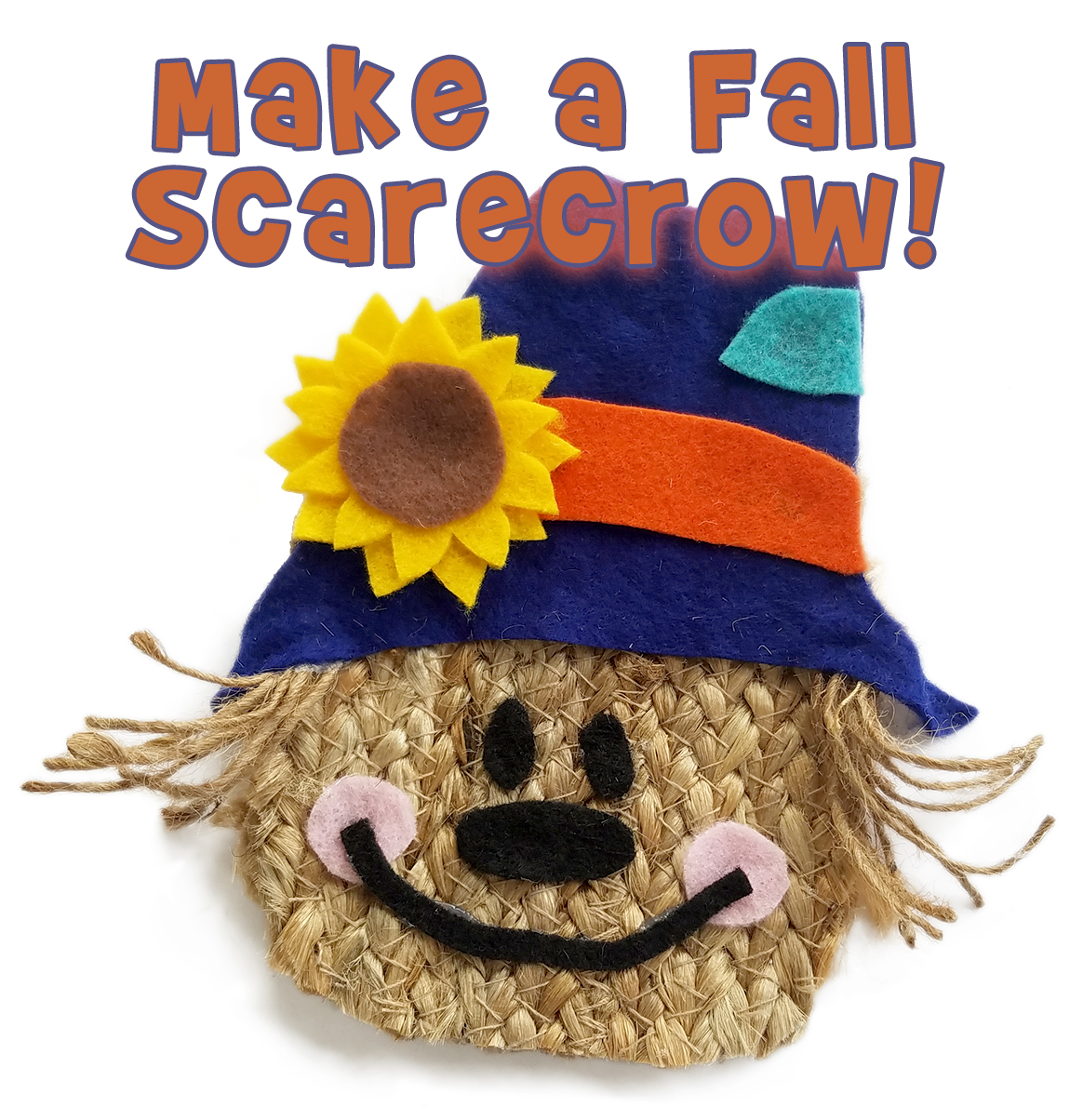 Fall Scarecrow Kids Craft And Free Pattern