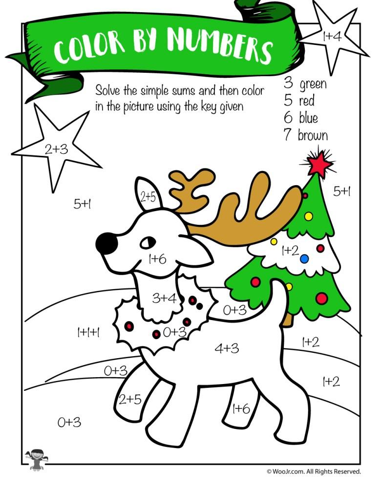free printable christmas math worksheets: pre k, 1st grade & 2nd