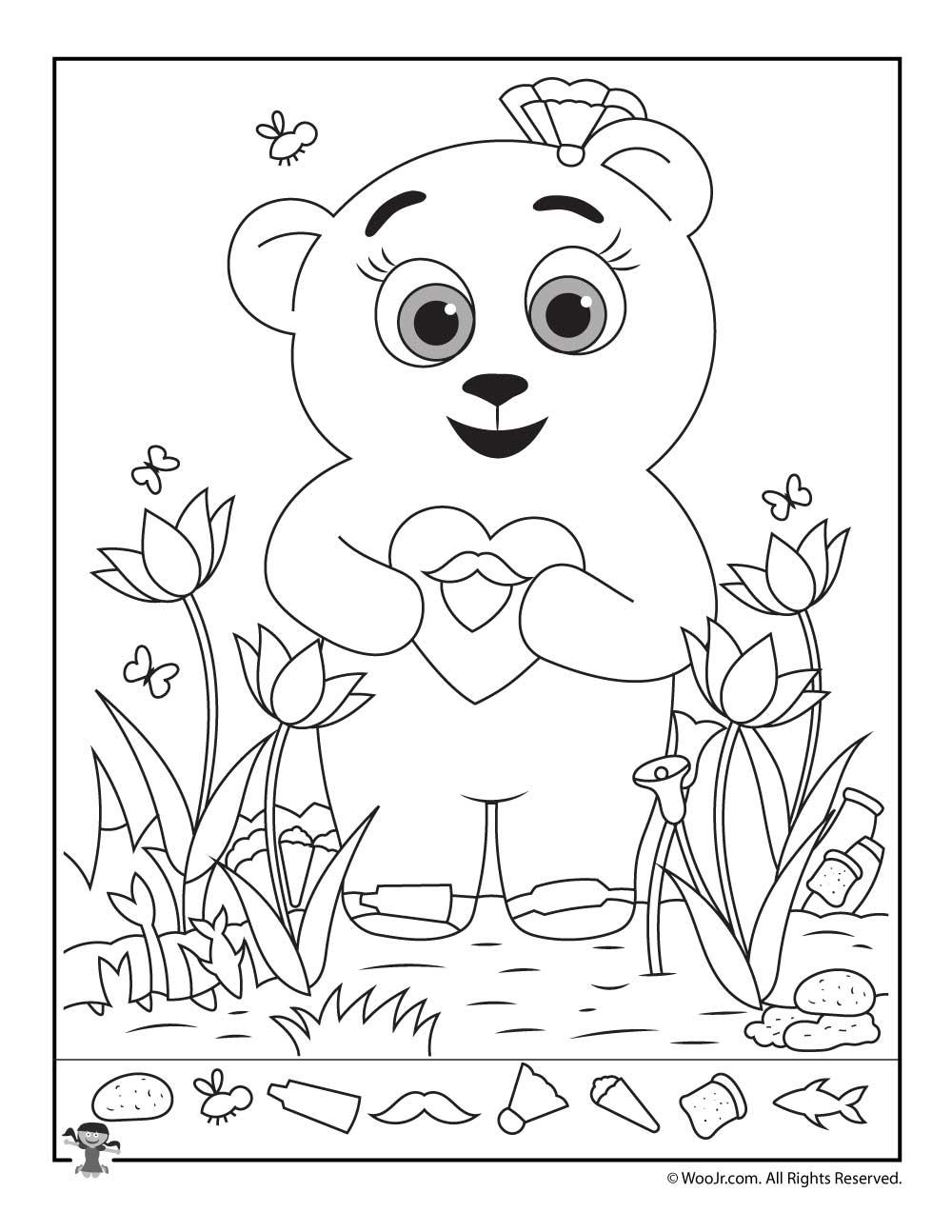 Teddy Bear Hidden Picture Printable Woo Jr Kids Activities