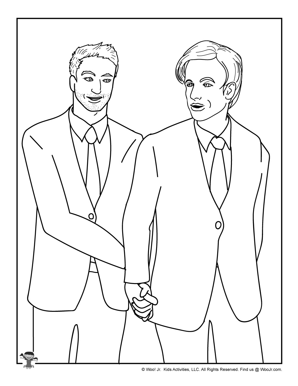 Gay Wedding Coloring Page For Kids Woo Jr Kids Activities